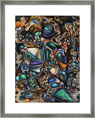Malleomorphic Minerals In Mounds Of Majestic Muc Framed Print