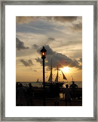 Mallory Square Key West Framed Print by Susanne Van Hulst