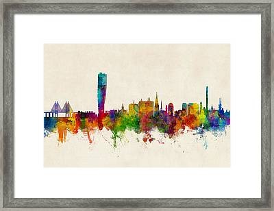Malmo Sweden Skyline Framed Print by Michael Tompsett