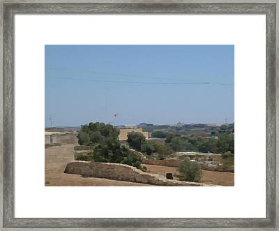 Framed Print featuring the digital art Malta Photo/painting by JLowPhotos