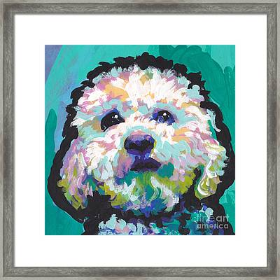 Malted Milky Poo Framed Print by Lea S