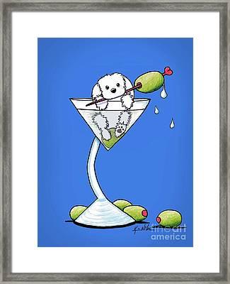 Maltese Martini Framed Print by Kim Niles