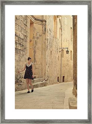 Maltese Streets Framed Print by Cambion Art