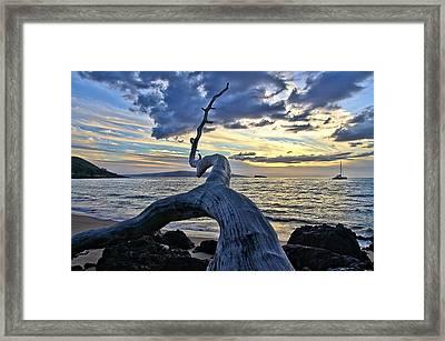 Maluaka Beach Sunset Framed Print
