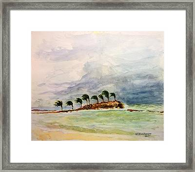 Framed Print featuring the painting Malya Jamaica by Nicolas Bouteneff