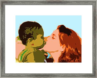 Mama And Me Framed Print