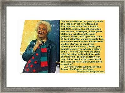 Mama Frances Cress Welsing Framed Print
