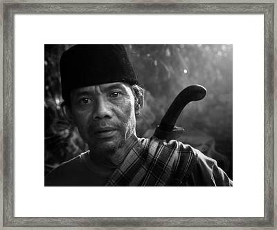 Mamang Nya Nico Framed Print by Andre Arment