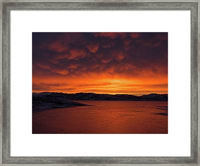 Mamantus Clouds Over Wildhorse Reservoir, Nv Framed Print