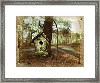 Mamaw's Birdhouse Framed Print by Steven Michael