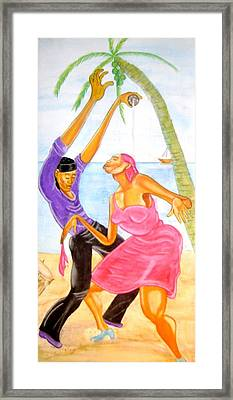 Mambo Dancing Framed Print by Neg Ayiti