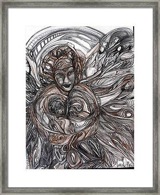 Mamie Framed Print by Anne-D Mejaki - Art About You productions