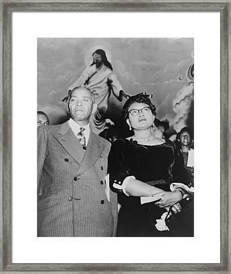 Mamie Bradley, Mother Of Emmett Till Framed Print by Everett