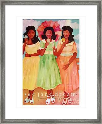 Mamie's Pink Tea  Ice Cream Framed Print by Janie McGee