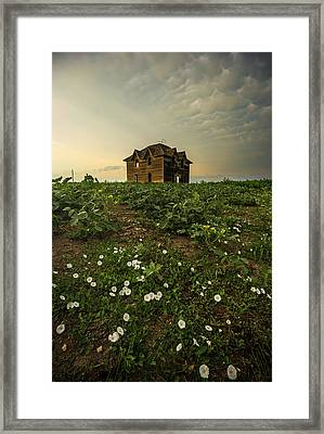 Framed Print featuring the photograph Mammatus And Flowers  by Aaron J Groen