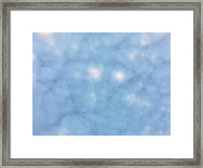 Mammatus Clouds Forming Framed Print by Angela A Stanton
