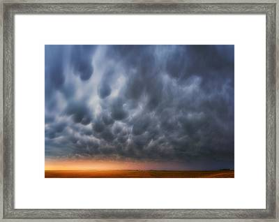 Mammatus Over Madrid Framed Print by Darren  White