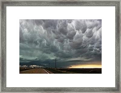 Mammatus Over Montata Framed Print by Ryan Crouse
