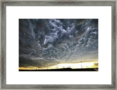 Mammatus Over Nebraska Framed Print
