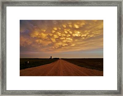Mammatus Road Framed Print by Ed Sweeney