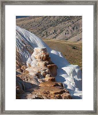 Mammoth Hot Springs  Framed Print