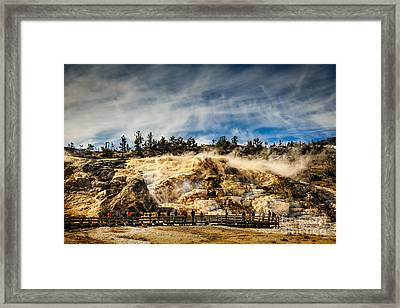 Mammoth Hot Springs Framed Print by Jon Burch Photography