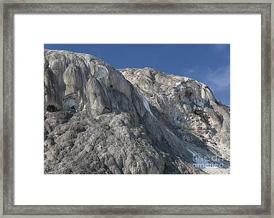 Framed Print featuring the photograph Mammoth Hot Springs by Robert Pearson