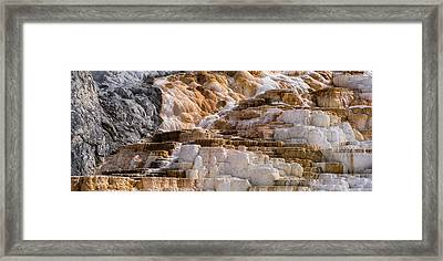 Mammoth Hot Springs Terraces Yellowstone Framed Print