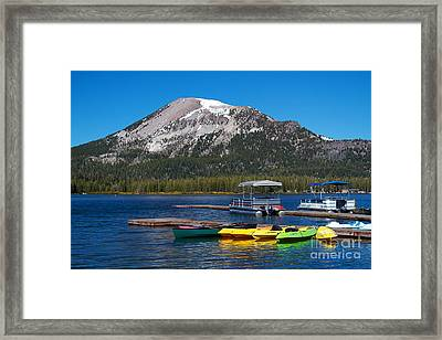 Mammoth Mountain California At Lake Mary Framed Print by ELITE IMAGE photography By Chad McDermott
