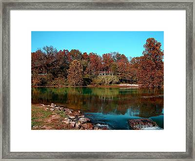 Framed Print featuring the photograph Mammoth Springs by Rick Friedle