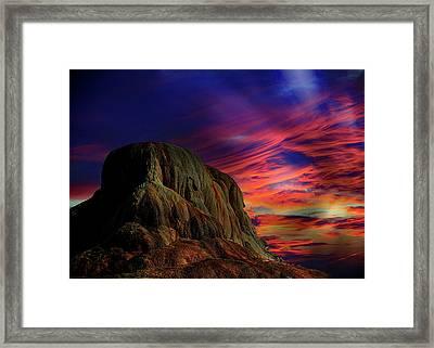 Mammoth Sunset Framed Print