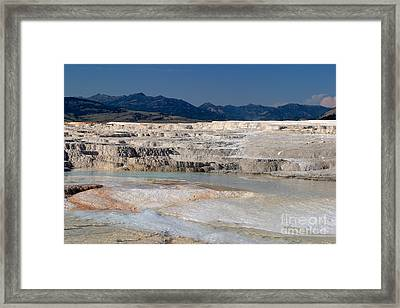 Framed Print featuring the photograph Mammoth Terrace Layers by Charles Kozierok