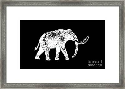 Mammoth White Ink Tee Framed Print by Edward Fielding