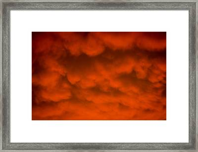 Mammutus Clouds Sunset Framed Print