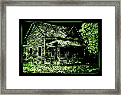 Man Abandons Nature Reclains Framed Print by Leslie Revels