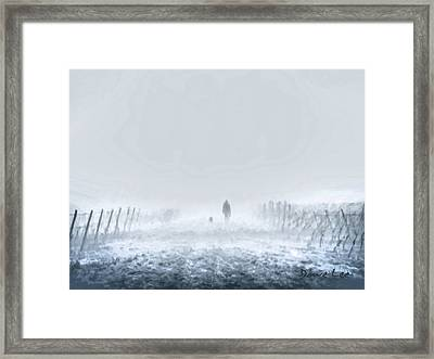 Man And His Best Friend Framed Print