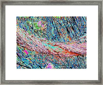 Man And Nature Abstracted Framed Print