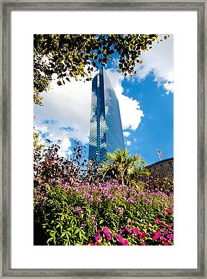 Man And Nature Framed Print by Greg Fortier