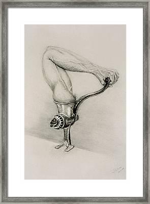 Man And Technology Framed Print by John Clum