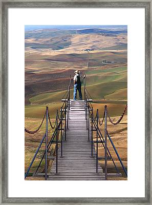 Man And The Land Framed Print