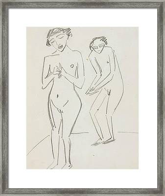 Man And Woman Framed Print by Ernst Ludwig Kirchner