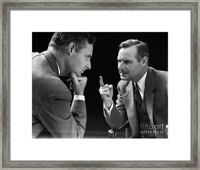 Man Arguing With Himself, C.1930s Framed Print by H. Armstrong Roberts/ClassicStock