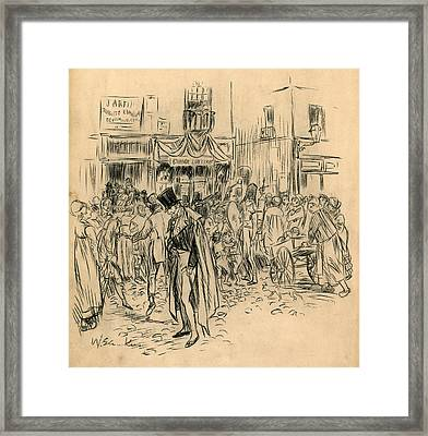 Man At Lottery Office Framed Print
