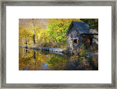 Man At The Lake Framed Print