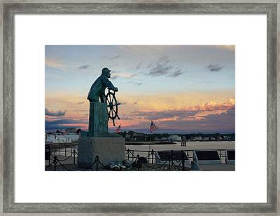 Man At The Wheel At Sunset Framed Print by Matthew Green