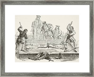 Man Being Tortured On The Rack. From Framed Print