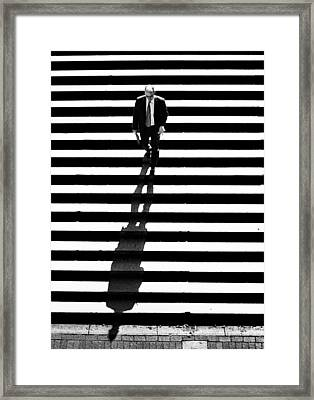 Man Bethesda Steps Framed Print