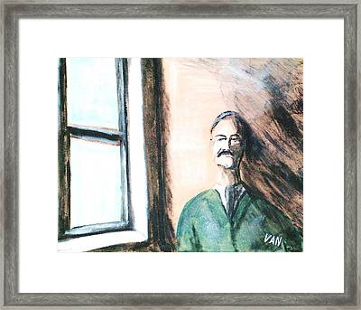 Man By The Window Framed Print