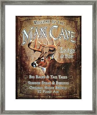 Man Cave Art  Framed Print