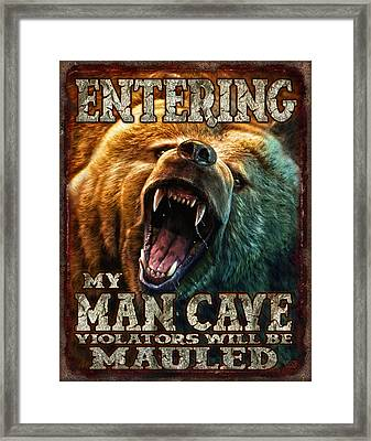 Man Cave Framed Print by JQ Licensing